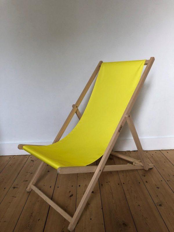 strandstoel geel