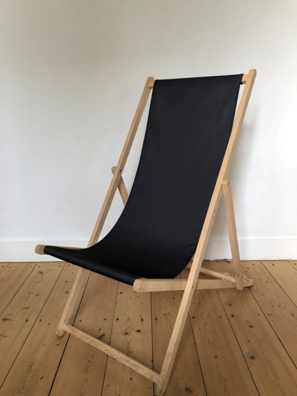 strandstoel zwart