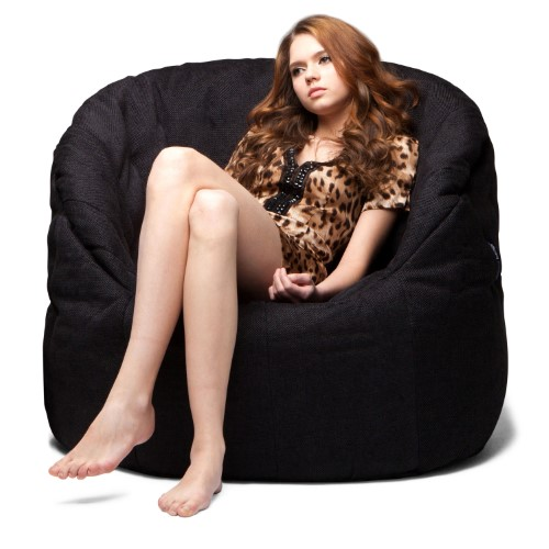 butterfly sofa bean bag black